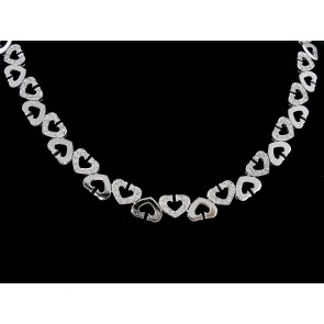 1.25ct Heart Motif Diamond Necklace