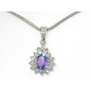 18K Tanzanite Diamond Pendant