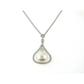 18KW 39D/0.33CT PEARL