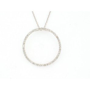 14KW 0.75CT O-pendent