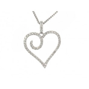 1/2ct Modern Diamond Heart Pendant