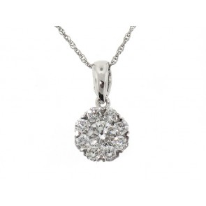 0.50ct Diamond Cluster Pendant