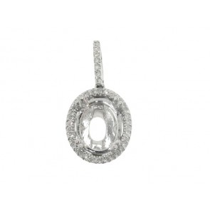 16ct Oval Pendant Semi-Mount