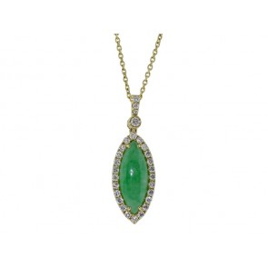 18K Jade and Diamond Pendant