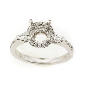 Simple Halo Engagement Ring