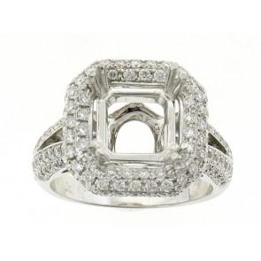 Split Shank Diamond Engagement Semi-Mount Ring