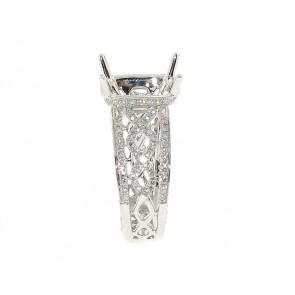 18K Diamond Eternity Motif Engagement Ring