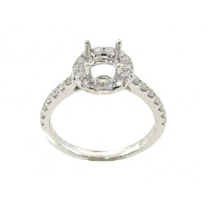 .50ct Diamond Halo Engagement Ring
