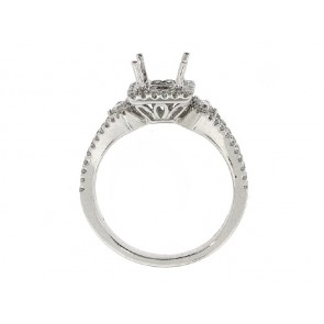 .56ct Square Halo Diamond Engagement Ringq