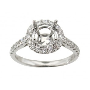 .56ct Diamond Halo Engagement Ring