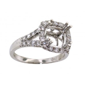 0.71ct Halo Diamond Engagement Ring