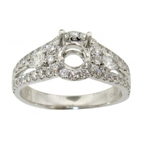 .80ct Halo Diamond Engagement Ring