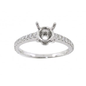 0.46ct Round Diamond Engagement Ring