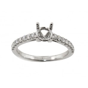 .35ct 18K Semi Mount Engagement Ring