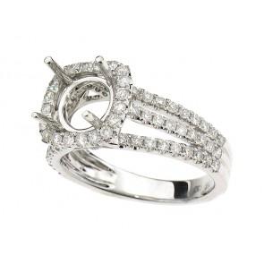 Surprise Halo Split Shank Engagement Ring