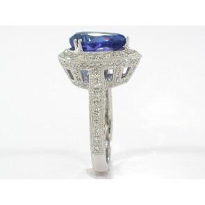 18K Custom Tanzanite and Diamond Ring