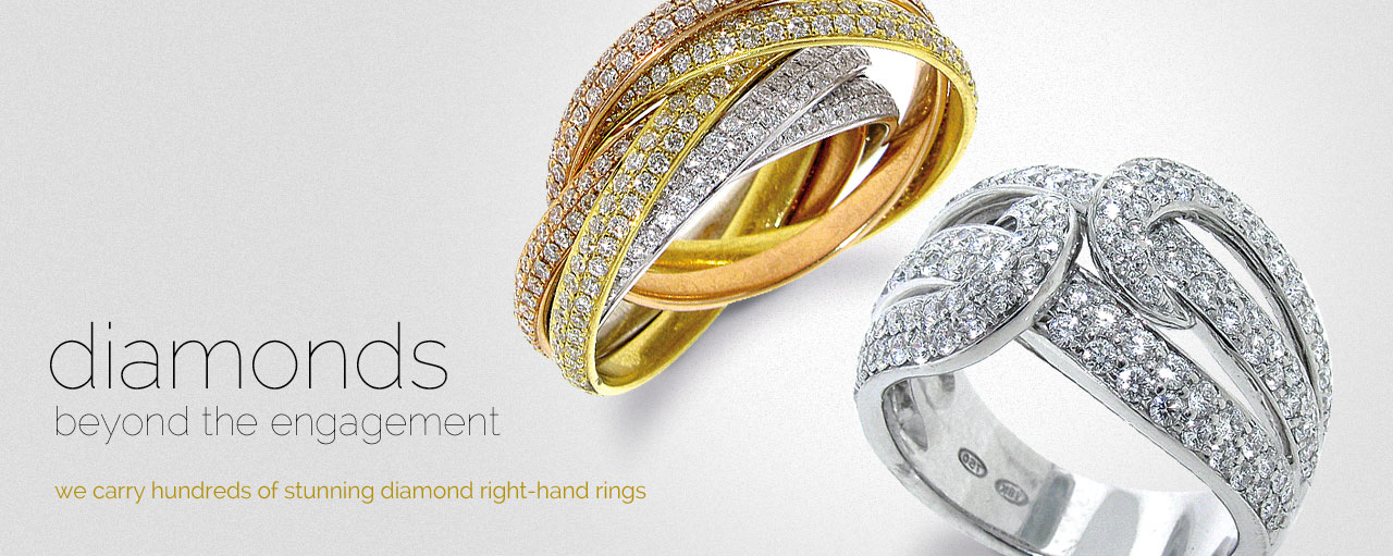 diamonds beyond the engagement - we carry hundreds of stunning diamond right-hand rings